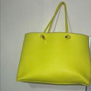 Handbags - Lime green Tote bag